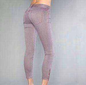 Free People   Millennium Skinny Zipper Ankle Jeans